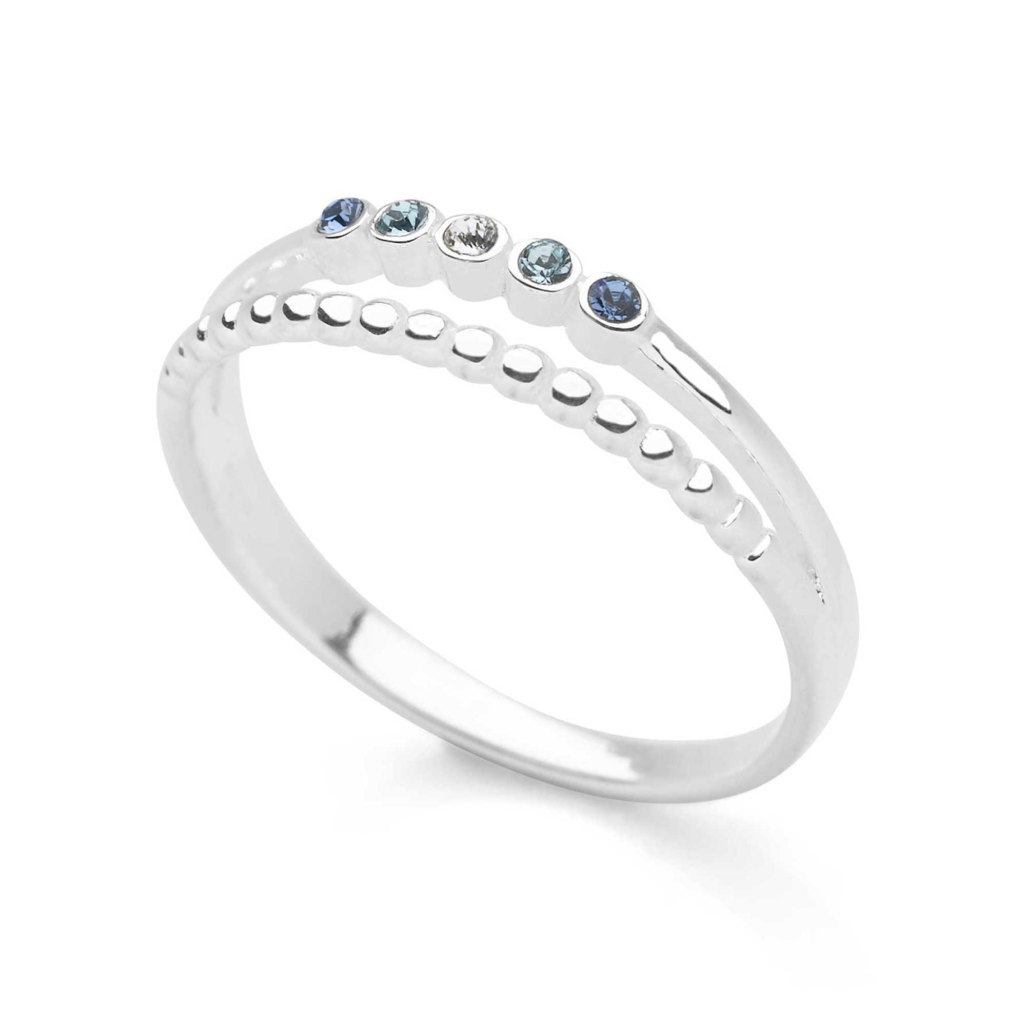 925 sterling silver ring that splits in two with one cubic zironia stones (R20471)