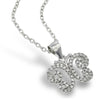 925 sterling silver butterfly pendant with cubic zirconia. (ZJP2341)