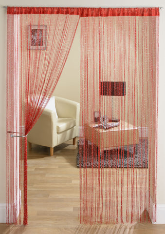 Glam Red String Curtain