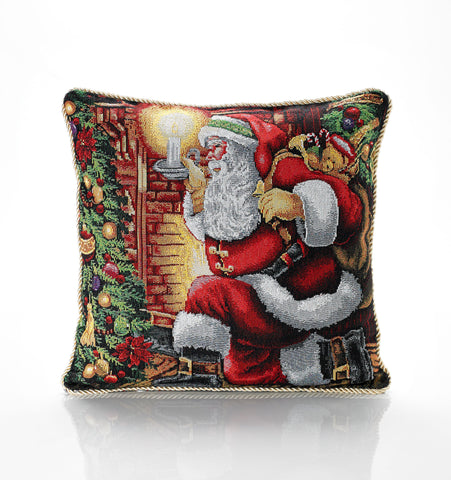 Tapestry Santa Claus Cushion Cover