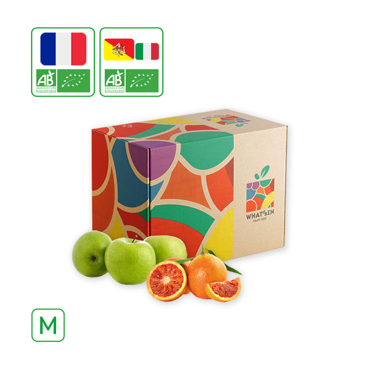 WHAT'sIN Sicilian Tarocco Orange & Granny Smith Apple Duo (M - 2.5 KG)