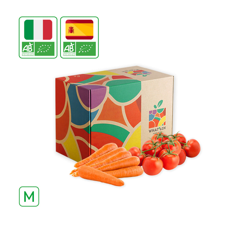WHAT'sIN Tomatoes on the Vine & Carrots Washed Duo (M - 2.5 KG)