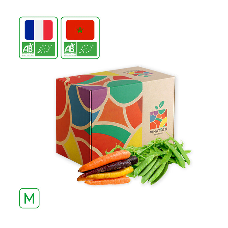 WHAT'sIN Snow Peas & Colored Carrots Duo (M - 2.5 KG)