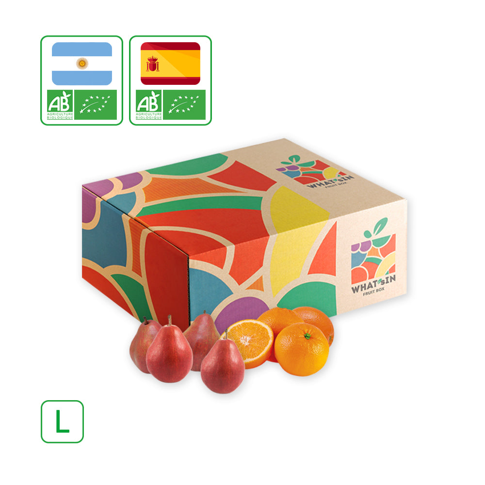 Your Large Duo Fruit Box Valencialate Orange Red Anjou Pear Hk L 5 Kg
