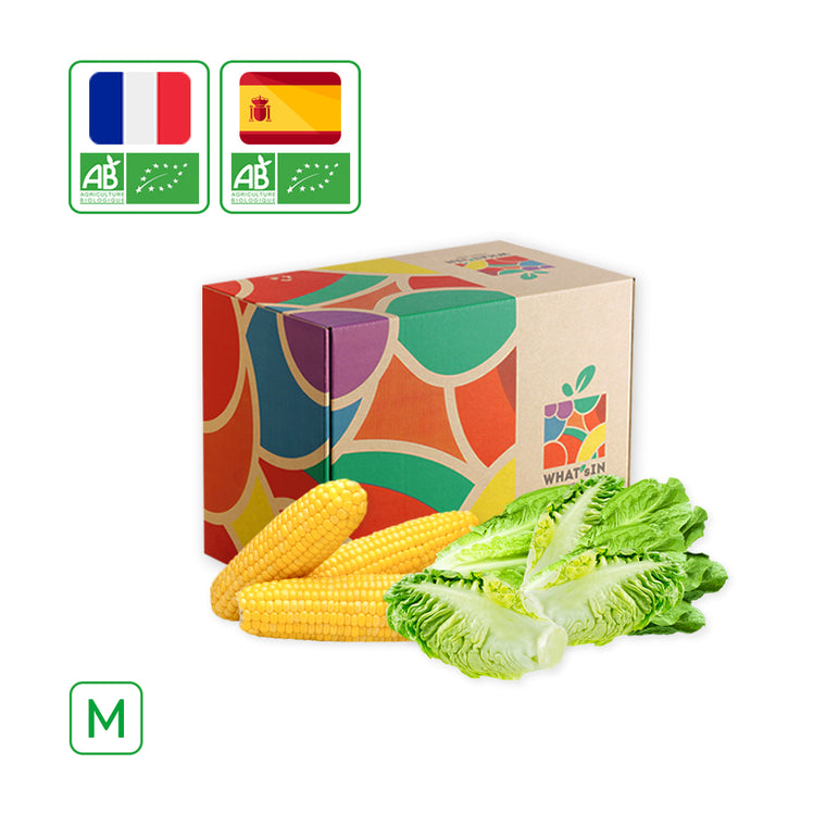 WHAT'sIN Romaine Salad & Sweet Corn under Vacuum Duo (M - 2.5 KG)