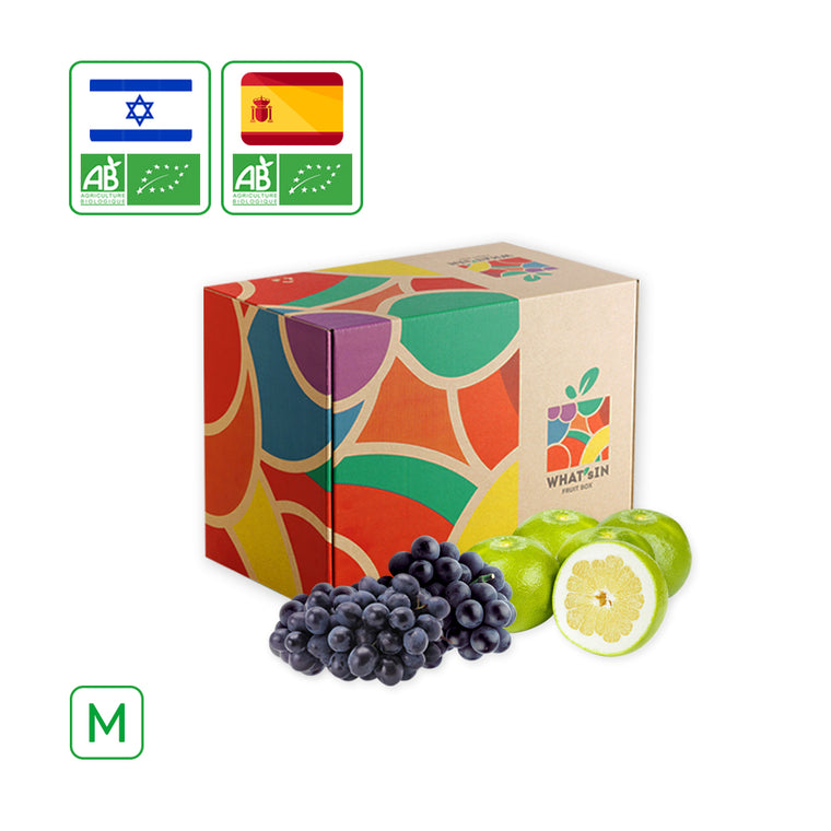 WHAT'sIN Seedless Autumn Royal Black Grape & Sweetie White Grapefruit Duo (M - 2.5 KG)