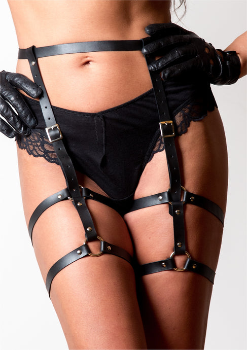 Windböe Leather Leg Garter - Amoreze
