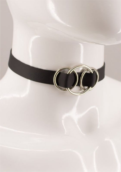 Lara Leather Choker - Amoreze