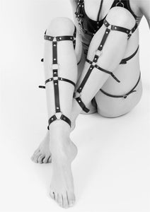 Brooklyn Leather Leg Harness - Amoreze