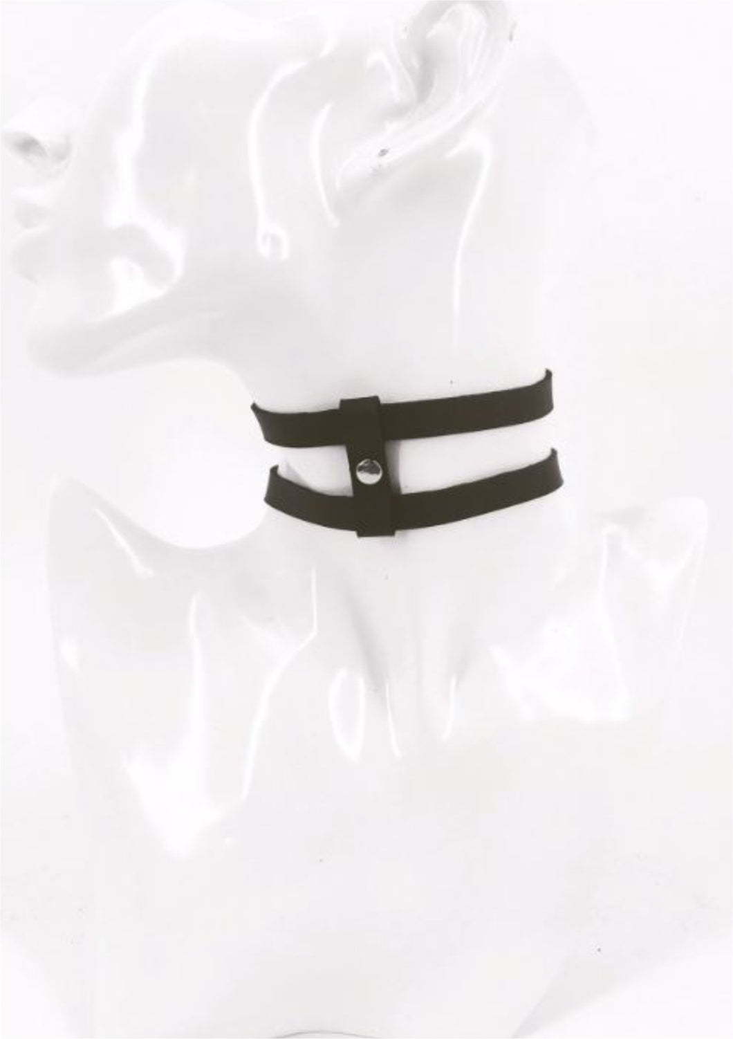 Roma Leather Choker - Amoreze