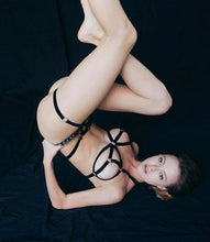 Load image into Gallery viewer, Femme Fatale Black Lingerie Set - Amoreze