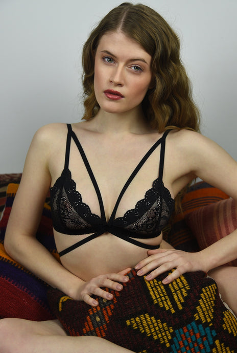 Scottish Lace Bralette - Amoreze The Phoenix Feather Bralette - Amoreze Bralette: sheer bralette, lace bralette, online bralette germany, custom made bralette, made to measure lingerie, dessous fur frauen, lingerie for women, strappy lingerie, black decadent lingerie, bh online, buy online bh, bralettes for small boobies, for small cups, see trough bra,sheer bralette,set bralette, french lingerie,triangle bra, feather bralette, carnaval outfit, stage outfit, coachella, lolla palooza outfit,festival bralette