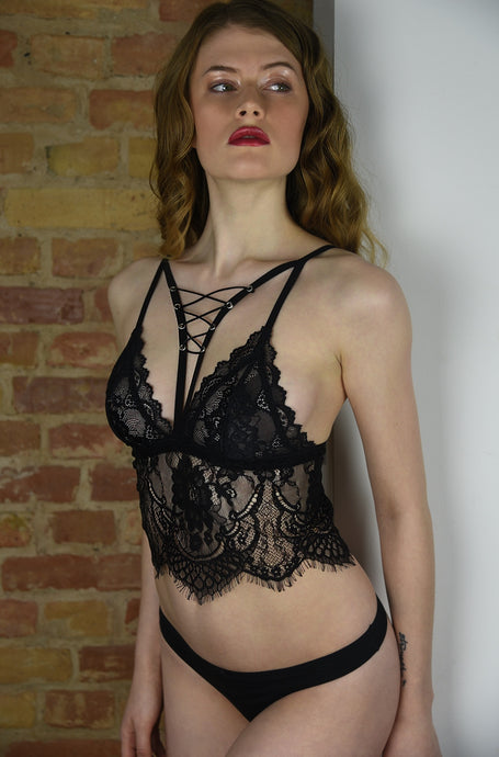 Exotic Tabby Lace Bralette