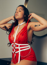 Load image into Gallery viewer, Haley leather harness : bridal collection - Amoreze