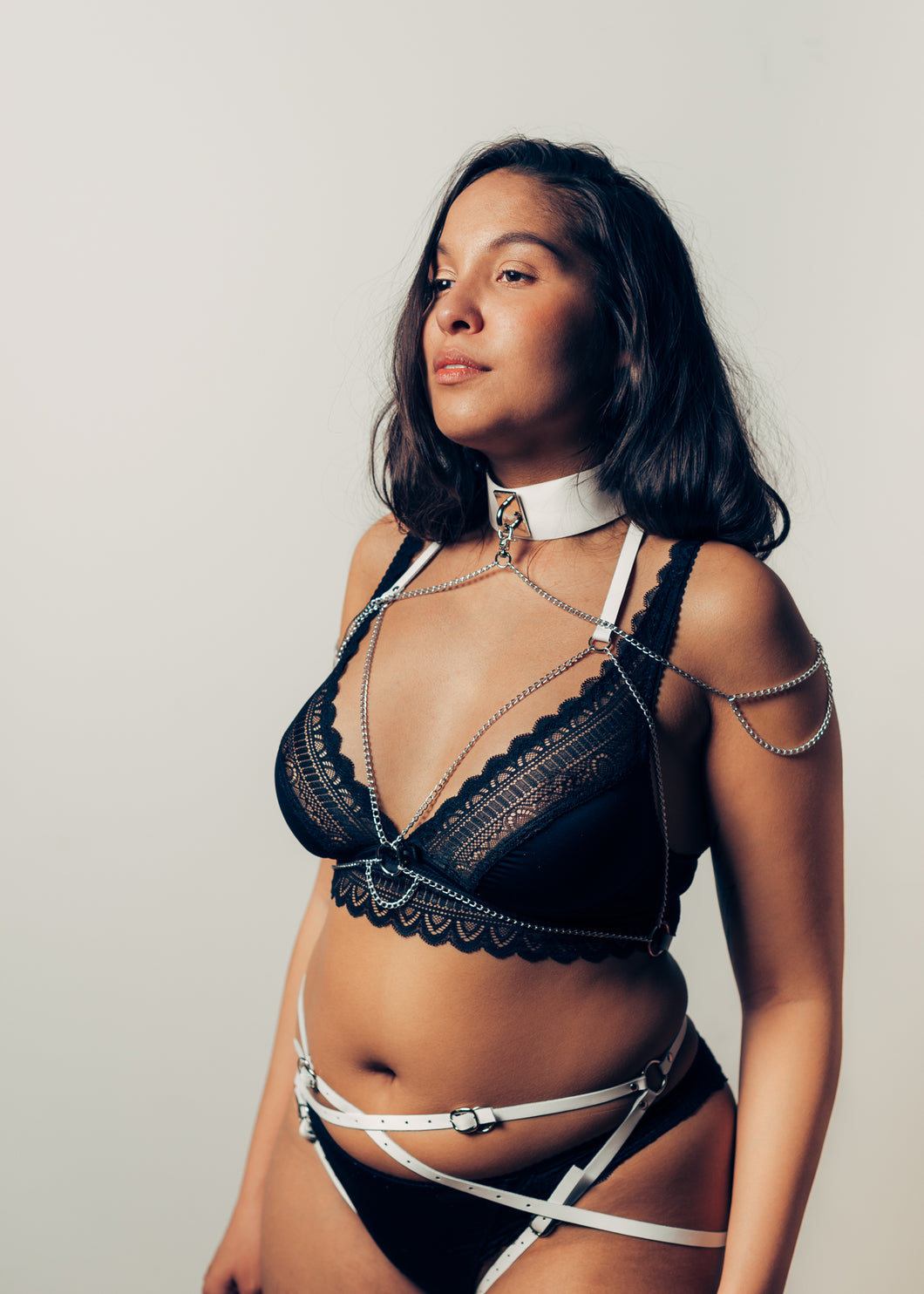 Tiana leather harness, set of 3: bridal collection - Amoreze