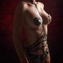 Load image into Gallery viewer, Cross shape leather nipple pasties - Amoreze