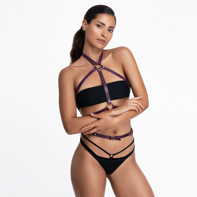 Aylin Leather Harness - Amoreze