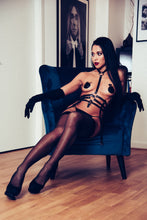 Load image into Gallery viewer, Natalie Leather Harness with chains - Amoreze