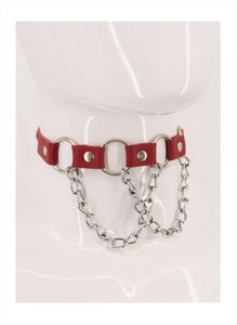 Victoria Leather Choker - Amoreze