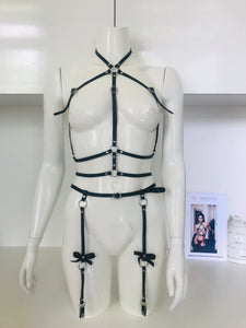 Kyle leather harness set - Amoreze