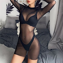 Load image into Gallery viewer, Mara black mesh dress - Amoreze