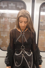 Load image into Gallery viewer, Helena Black Leather Harness