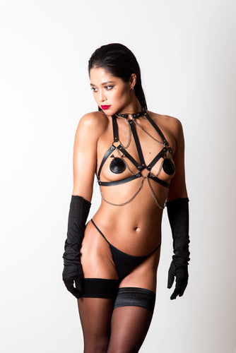 Sophie Leather harness - Amoreze