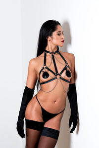 Die Welle Leather Harness - Amoreze