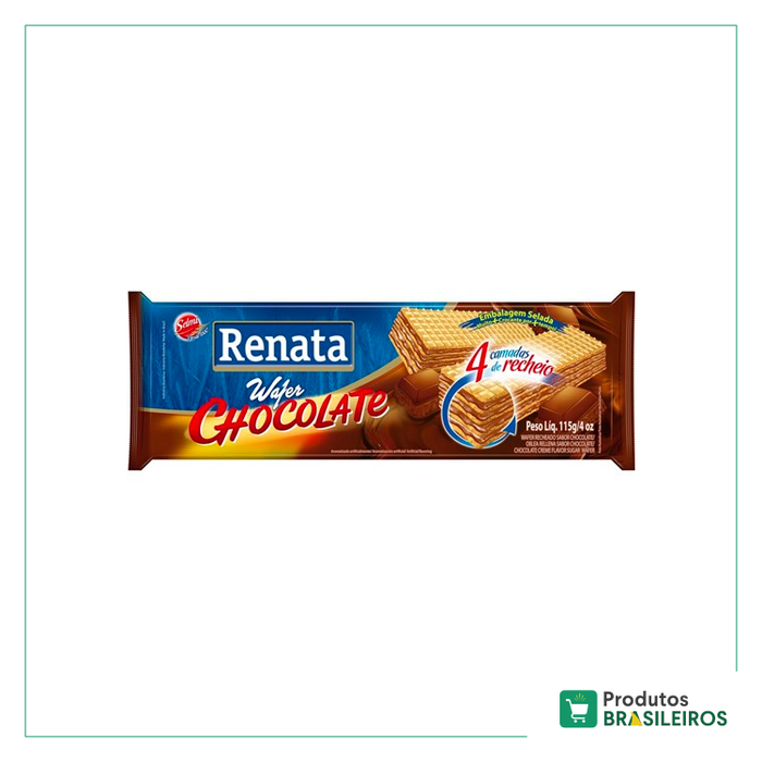 Biscoito Wafer Chocolate RENATA - 115g