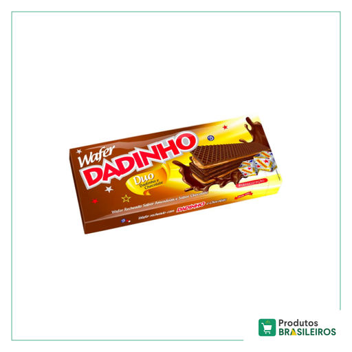 Biscoito Wafer Duo Chocolate DADINHO - 130g