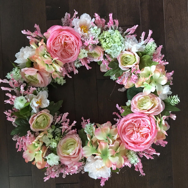 Valentines Day Wreath, Front Door Wreaths, Valentines Day Decor, Summer Wreaths for front door, Door Wreath, Green Wreath, Summer Door