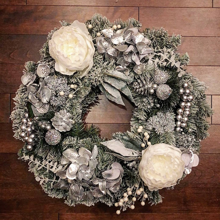 Winter Wreaths for Front Door, Winter Wreath, Holiday Decor, Elegant Wreath, Winter Door Wreath, Holiday Decor, Christmas Wreath