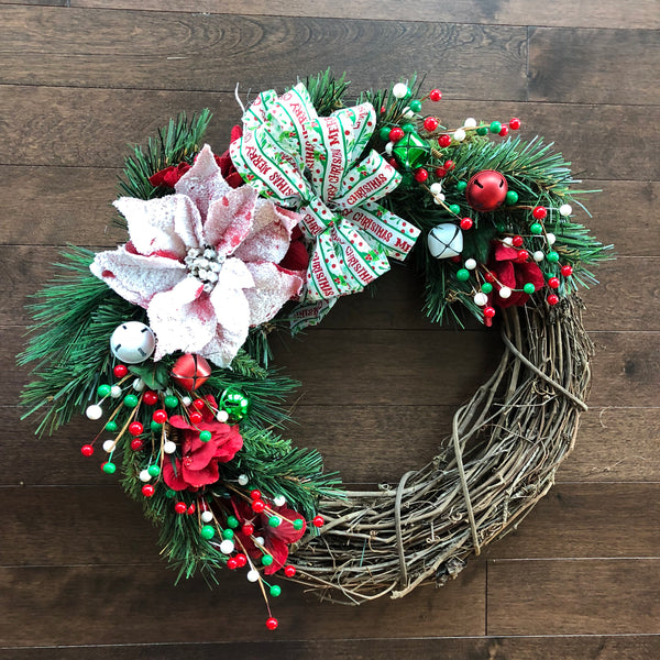 Christmas Wreath, Christmas Wreath with Bow, Christmas Wreaths for Front Door, Holiday Wreath, Holiday Wreaths for Front Door
