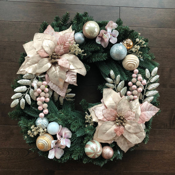 Elegant Christmas Wreath, Christmas Wreath, Christmas Wreaths for Front Door, Christmas Wreath with Lights, Christmas Decorations