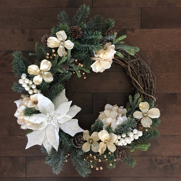 Winter Wreath, Winter Wreaths for Front Door, Holiday Door Wreath, Christmas Decor, Holiday Wreath