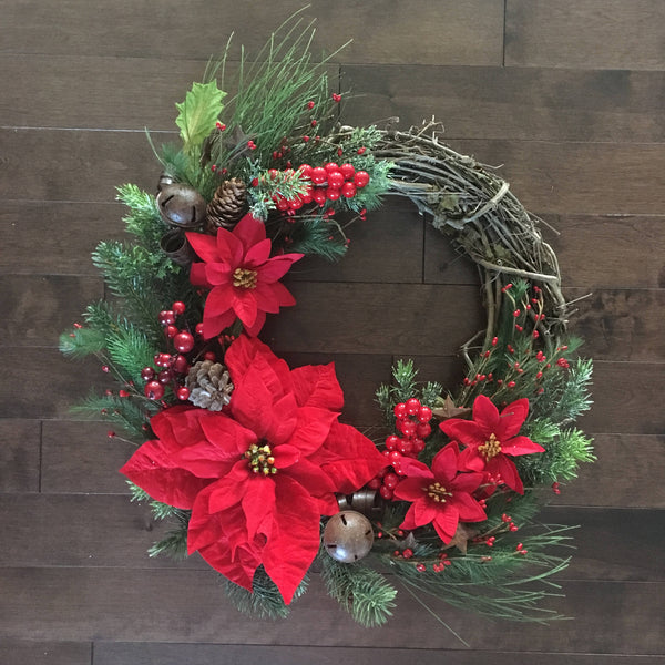 Winter Wreath, Winter Wreaths for Front Door, Holiday Door Wreath, Christmas Floral Wreath, Winter Door Wreath, Door Wreath