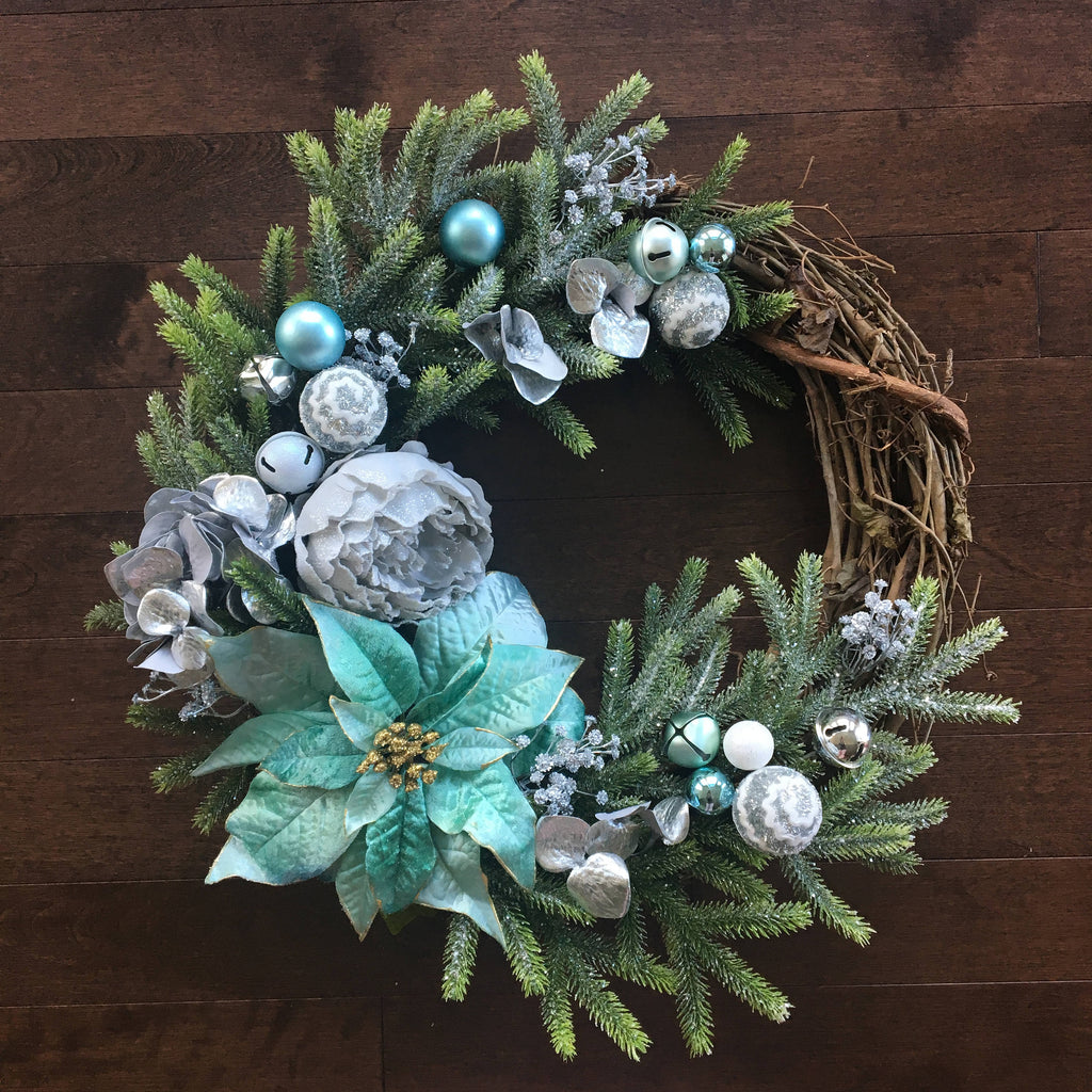 Winter Wreaths for Front Door, Winter Wreath, Christmas Wreath, Elegant Christmas Wreath, Holiday Wreaths