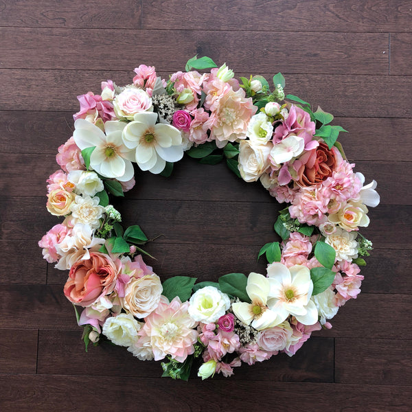 Spring Wreaths for Front Door, Easter Wreath, Spring Wreath, Valentines Wreath, Spring Floral Wreath, Wreaths for Front Door, Spring Wreaths