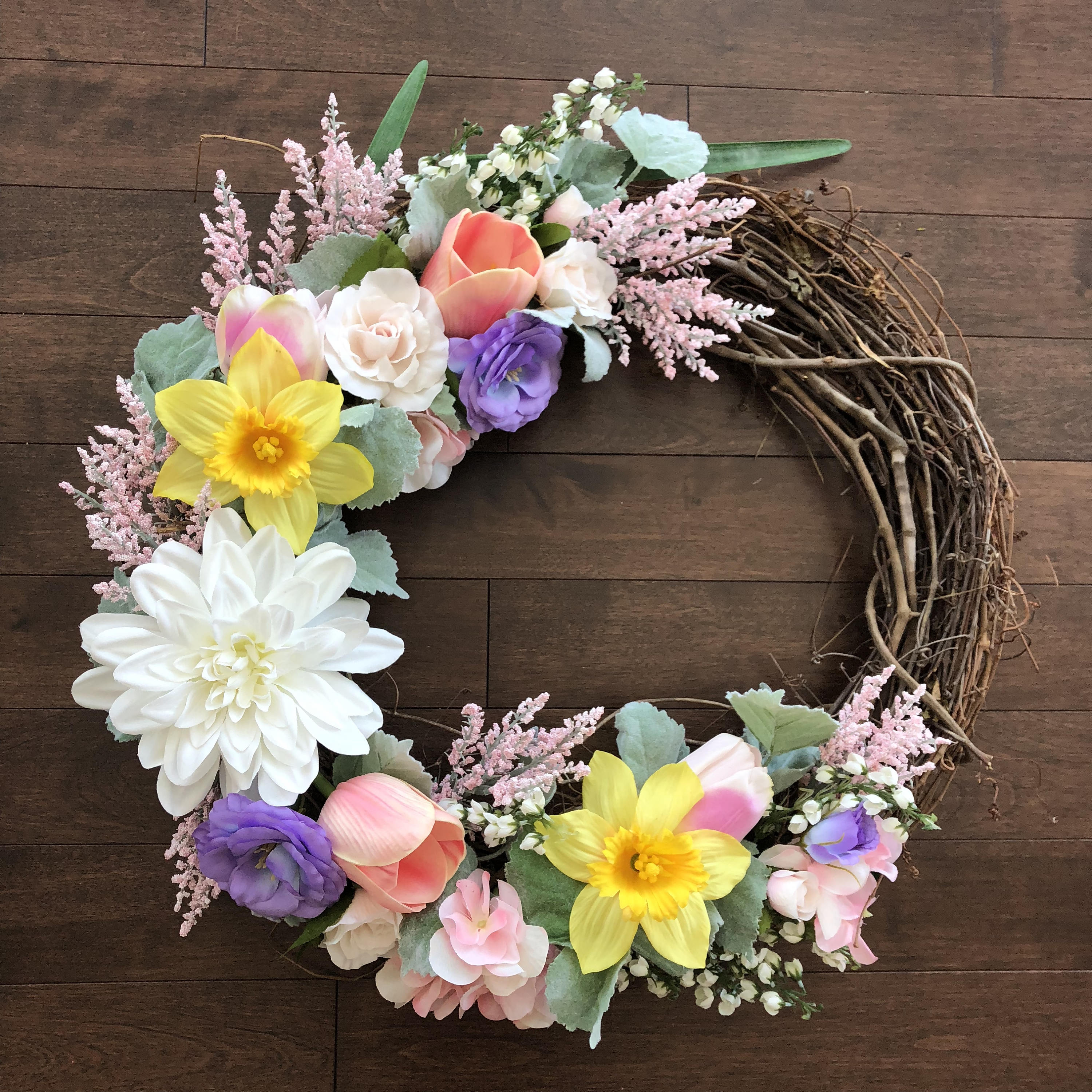 Charmant Spring Wreath, Easter Wreath, Easter Wreaths For Front Door, Spring Wreaths  For Front