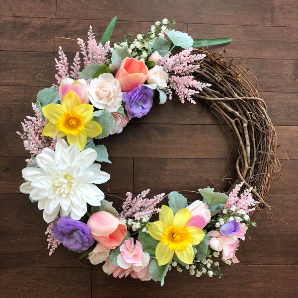 Spring Wreath, Easter Wreath, Easter Wreaths for Front Door, Spring Wreaths for Front Door, Spring Door Wreath, Front Door Wreath
