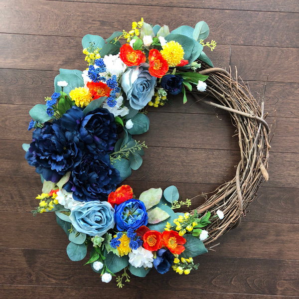 Spring Wreath, Wreaths for Front Door, Spring Wreaths for Front Door, Spring Door Wreath, Easter Wreath Modern, Front Door Wreath