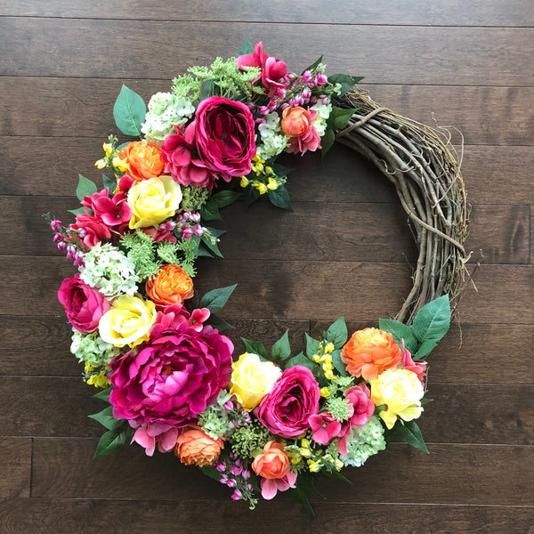 Spring Wreath, Spring Wreaths for Front Door, Wreaths for Front Door, Spring Door Wreath, Easter Wreath Modern, Easter Wreath, Door Wreath