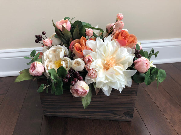 Spring Centerpiece, Easter Centerpieces, Centerpieces for Dining Table, Easter Decorations, Spring Decor, Spring Flowerbox, Centerpieces