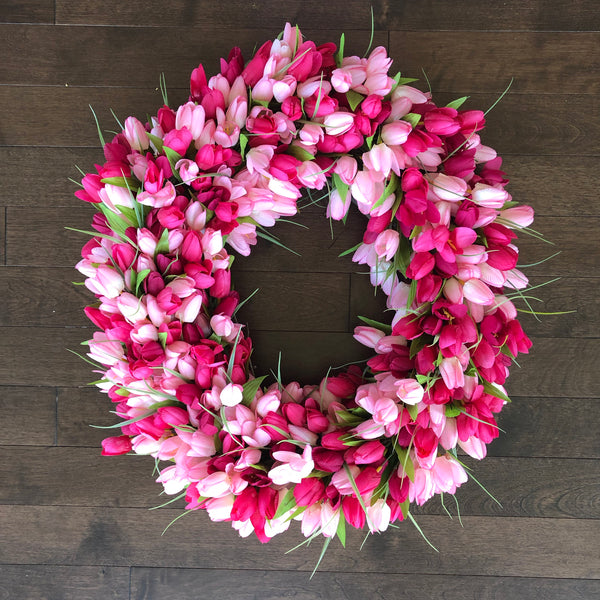 Spring Wreath, Tulip Wreath, Easter Wreath, Wreaths for Front Door, Spring Wreaths for Front Door, Wreaths with Tulips