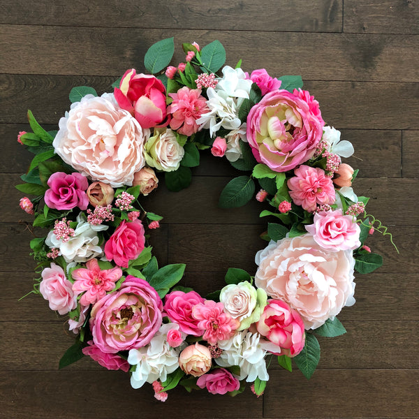 Valentines Day Wreath, Front Door Wreaths, Spring Wreath, Spring Wreaths for front door, Door Wreath, Wreaths for Front Door, Pink Wreath