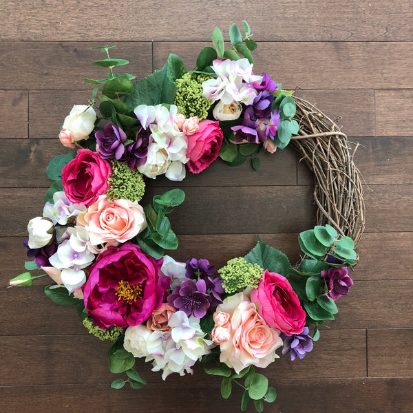 Spring Wreath, Wreaths for Front Door, Valentines Day Wreath, Spring Wreaths for Front Door, Spring Door Wreath, Year Round Wreath
