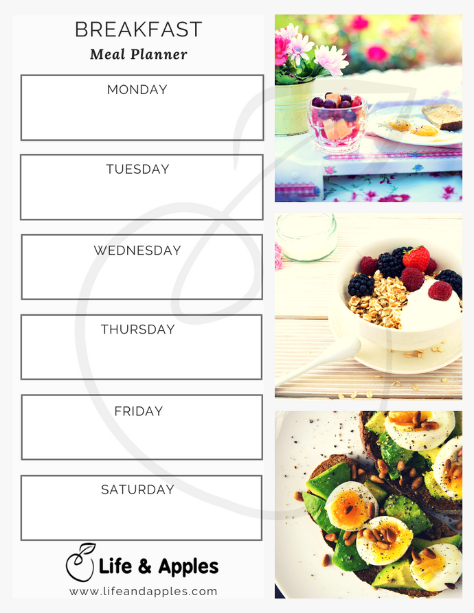 Breakfast Meal Planner