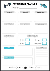fitness planner printable free | Life & Apples