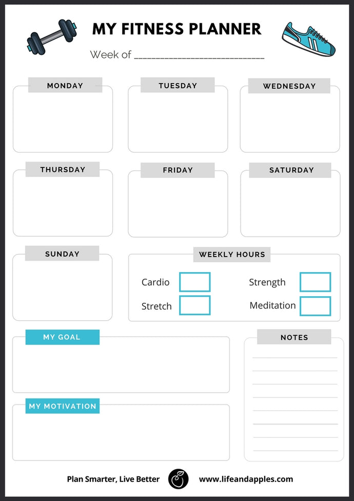 Fitness Planner - Printable