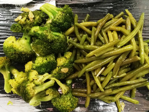 sauteed green beans and broccoli